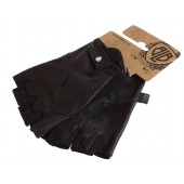 Skórzane rękawiczki czarne