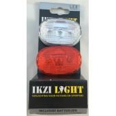 Komplet świateł rowerowych IKZI