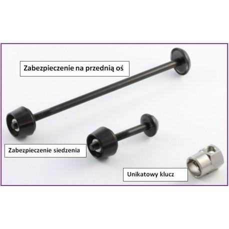 Pitlock - zabezpieczenie przedniego koła i słupka siedzenia
